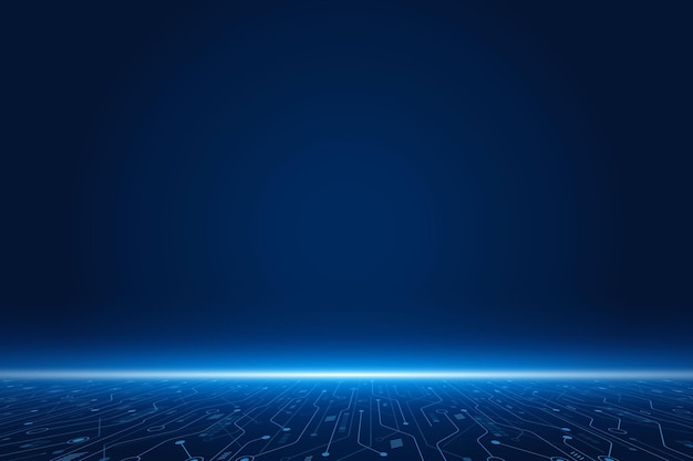 Fond de technologie futuriste de vecteur carte mère électronique concept de communication et d'ingénierie