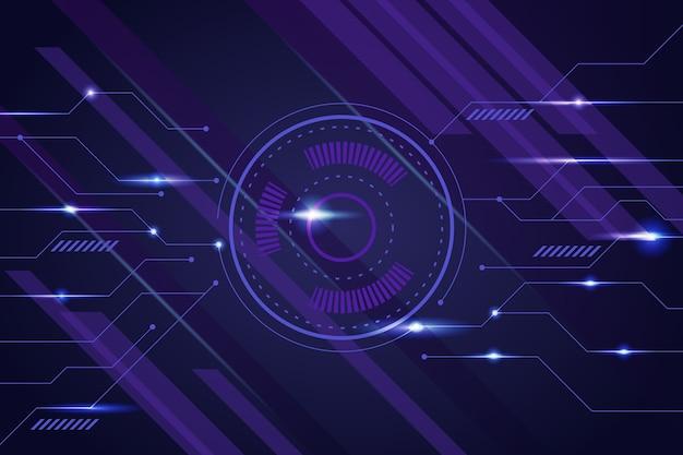 Fond de technologie futuriste
