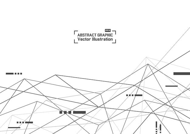 Fond de technologie géométrique abstraite