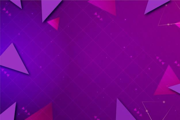 Fond de technologie géométrique violet