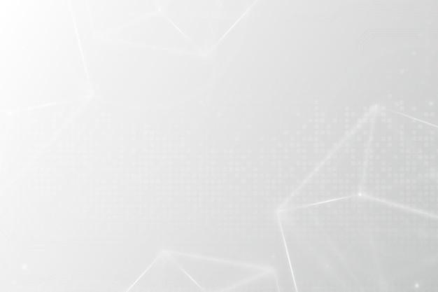 Fond de technologie de grille numérique dans le ton blanc