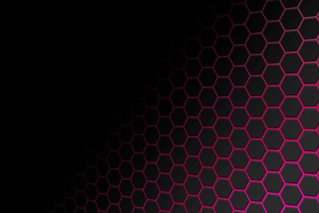 Fond de technologie avec des hexagones