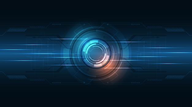 Fond de technologie hi-tech communication concept innovation abstrait illustration vectorielle