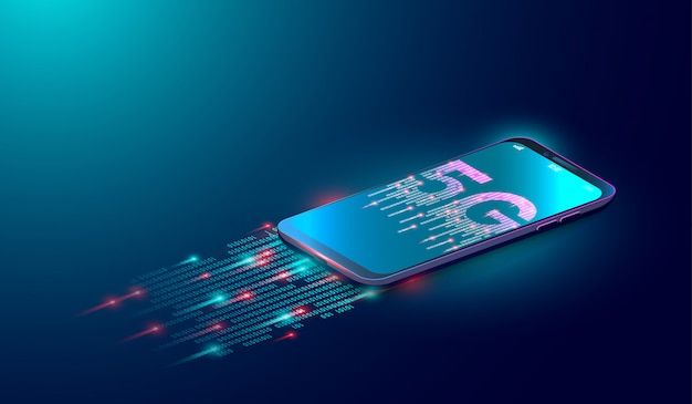 Fond de technologie internet 5g