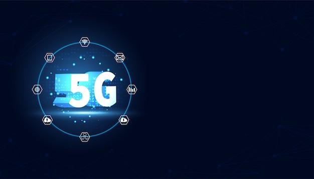 Fond de technologie internet sans fil 5g