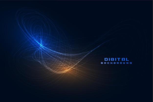 Fond de technologie de lignes de vagues abstraites