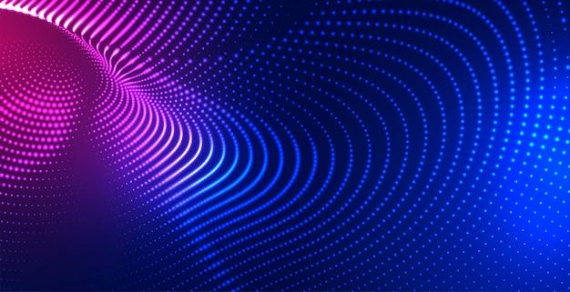 Fond de technologie de maillage de particules numériques
