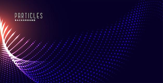 Fond de technologie de maillage de particules rougeoyantes numériques