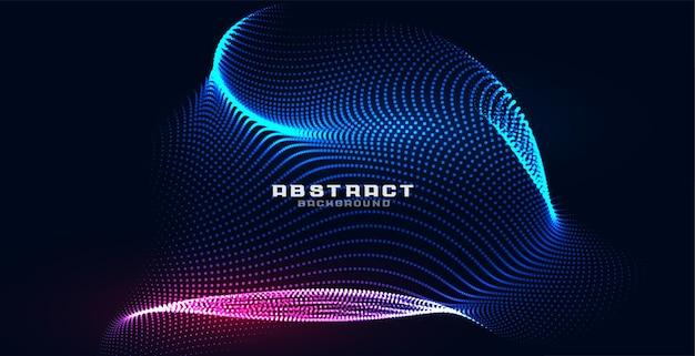 Fond de technologie de maille de particules holographiques