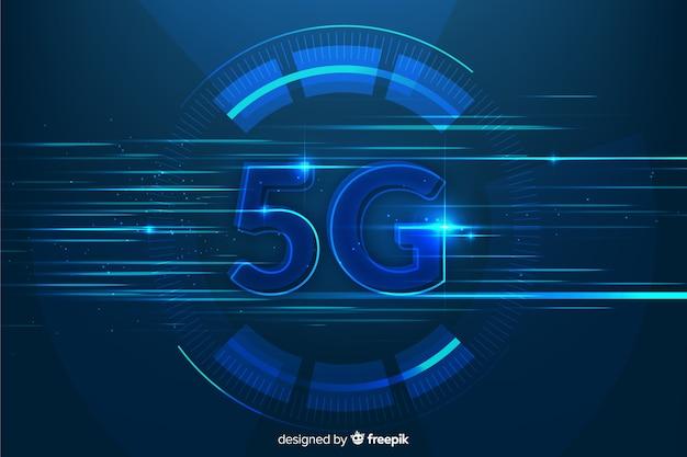 Fond avec la technologie moderne 5g