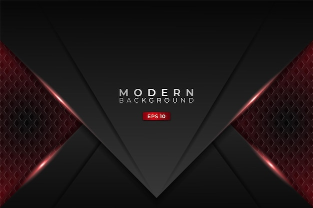 Fond technologie moderne métallique 3d futuriste gaming glow rouge