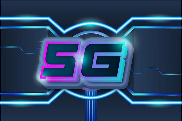 Fond de technologie moderne de vecteur de connexion internet 5g speed
