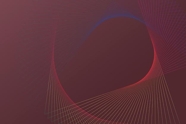 Fond de technologie avec motif filaire en spirale dans le ton rouge