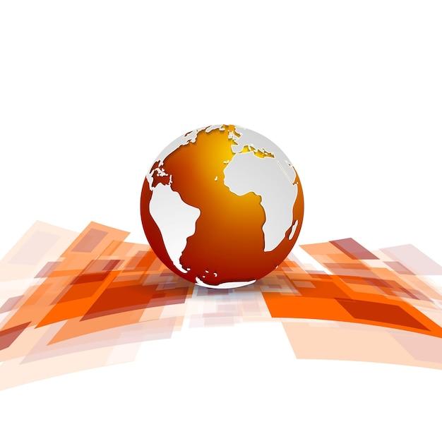 Fond de technologie de mouvement brillant avec globe. conception de vecteur