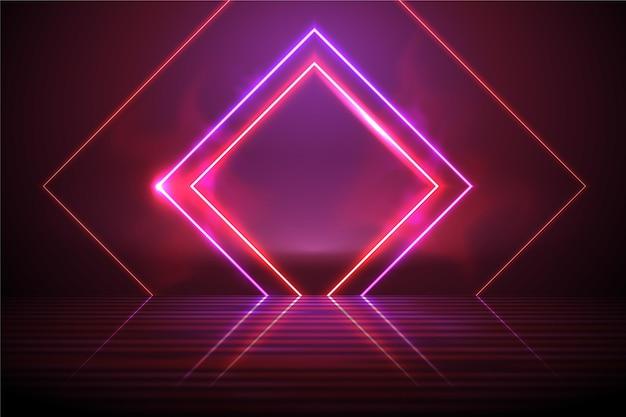 Fond de technologie néon abstrait