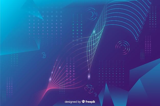 Fond de technologie de néons réalistes
