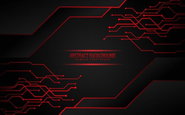 Fond de technologie noir et rouge