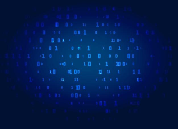 Fond de technologie numérique bleu avec des nombres binaires