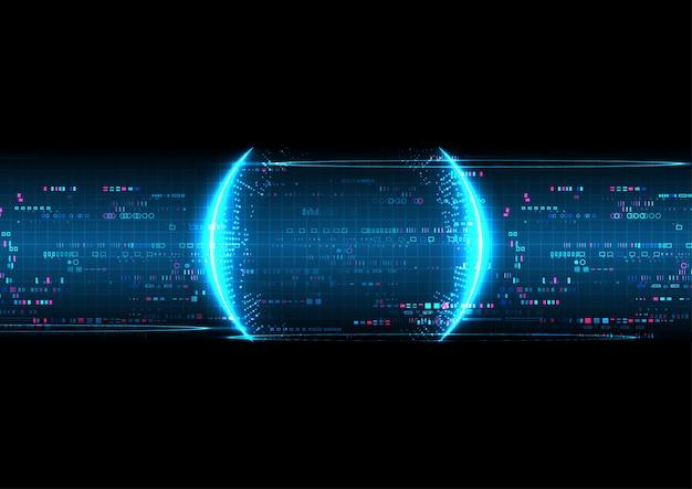 Fond de technologie numérique bleu