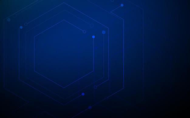 Fond de technologie numérique de haute technologie de circuit imprimé abstrait. illustration vectorielle