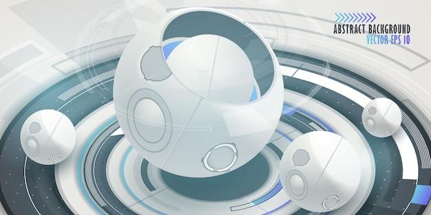 Fond de technologie numérique hi-tech