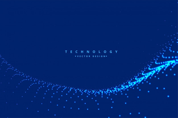 Fond de technologie numérique d'onde de particules