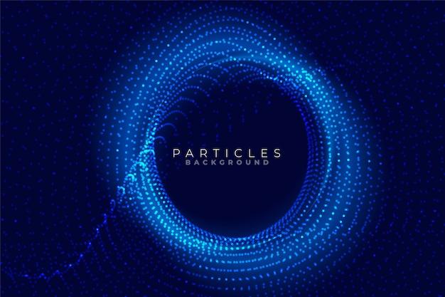 Fond de technologie de particules circulaires avec espace de texte