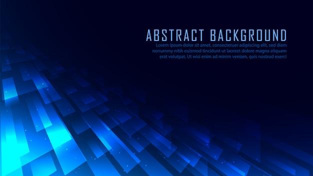 Fond de technologie de perspective abstraite