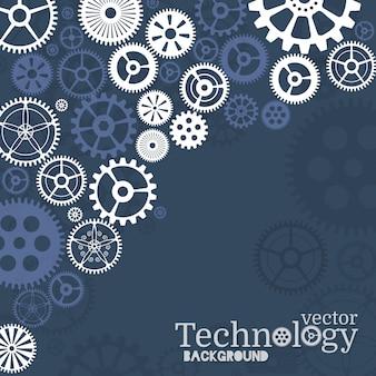 Fond de technologie avec pignon