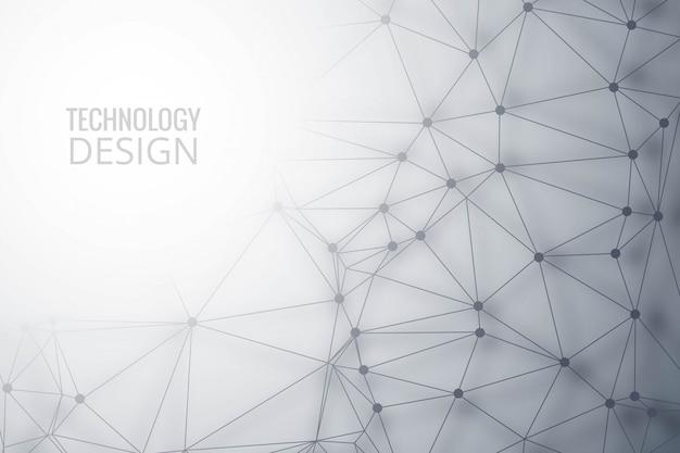 Fond de technologie de polygone moderne