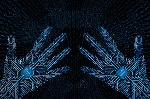 Fond de technologie de réalité virtuelle