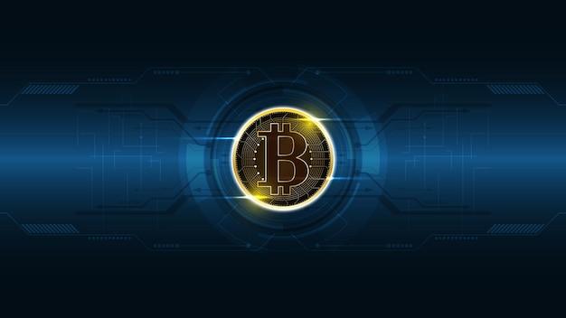 Fond de technologie de réseau d'argent numérique crypto-monnaie bitcoin
