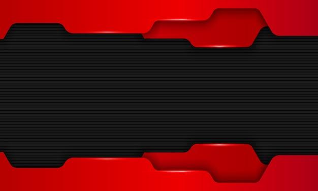 Fond de technologie rouge foncé moderne