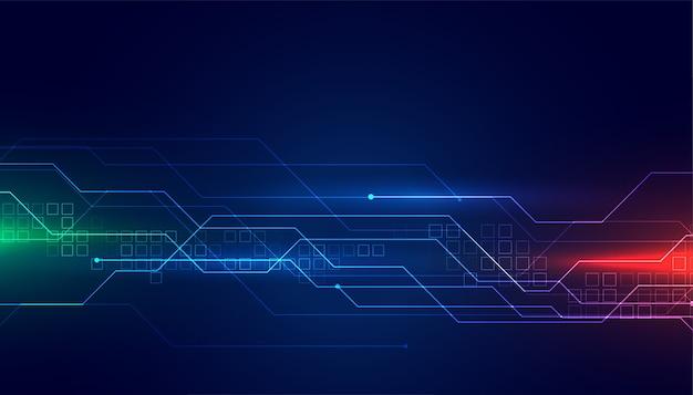 Fond de technologie de schéma de circuit numérique