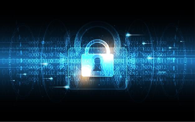 Fond de technologie de sécurité cyber concept numérique