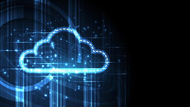 Fond de technologie de stockage de cloud computing