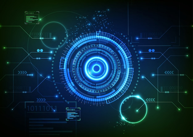 Fond de technologie vert bleu