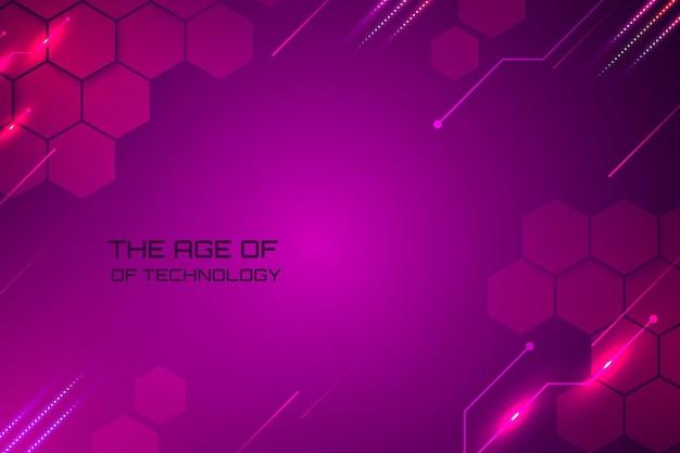 Fond de technologie violet géométrique