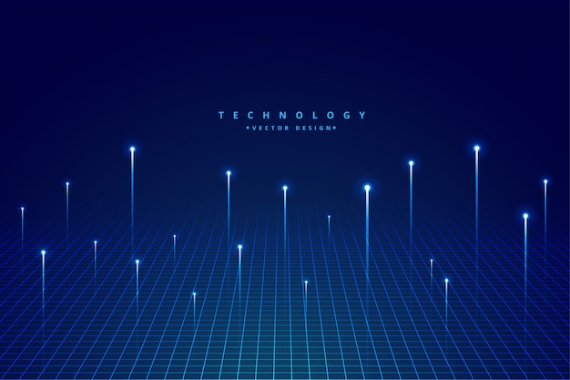 Fond de technologie de visualisation de données volumineuses