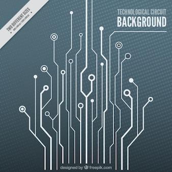 Fond technologique avec un circuit blanc