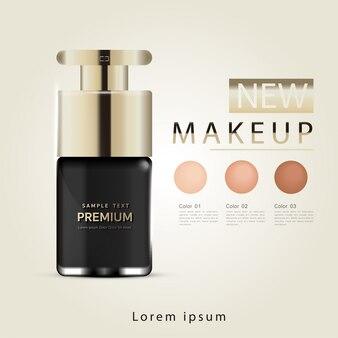 Fond de teint compact, produit essentiel de maquillage attrayant