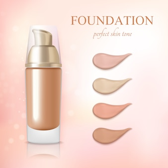 Fond de teint crème cosmétique réaliste