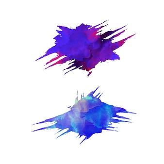 Fond de teinture splash aquarelle