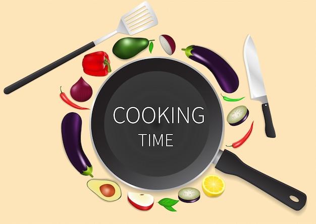 Fond de temps de cuisson