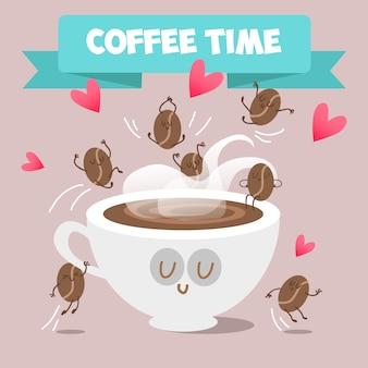 Fond de temps du café
