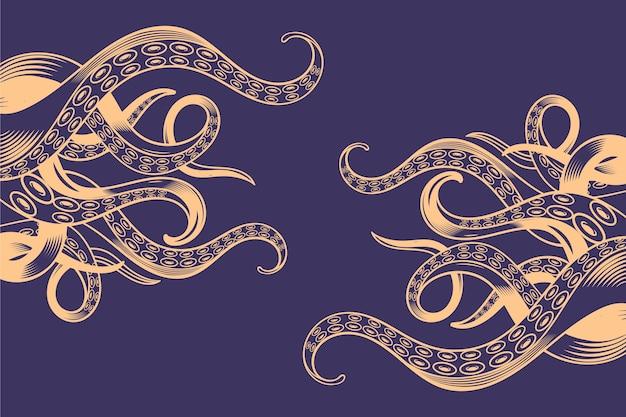 Fond de tentacules de poulpe