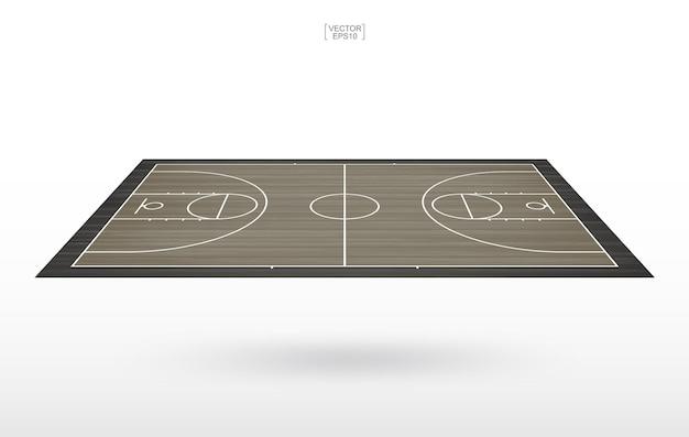 Fond de terrain de basket. terrain de basket. illustration vectorielle.