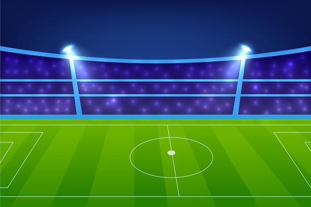 Fond De Terrain De Football Dégradé Vecteur gratuit