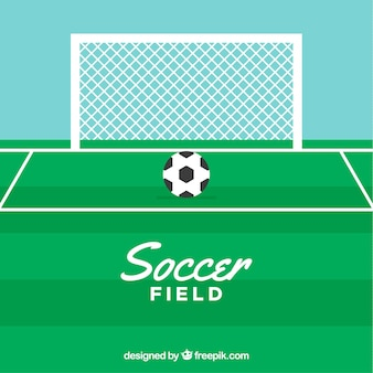 Fond de terrain de football avec tableau de bord dans le style plat
