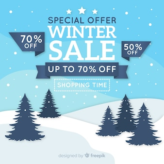 Fond de terrain de vente d'hiver